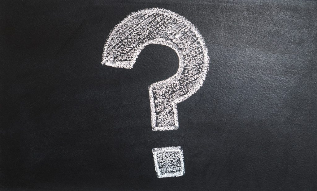 question mark image on chalk board - for what is affordable web design section